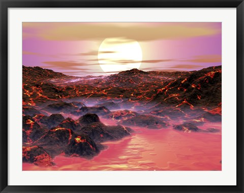 Framed Sun Begins its Journey Toward Becoming a Red Giant Print