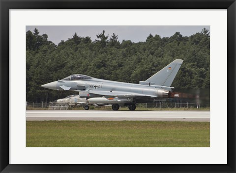 Framed Eurofighter Typhoon of the German Air Force Taking Off Print