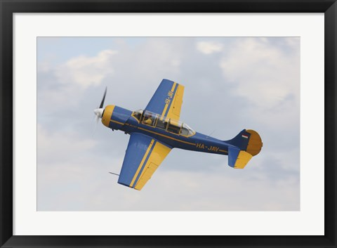 Framed Yakolev YAK-52 Plane Flying Over Czech Republic Print