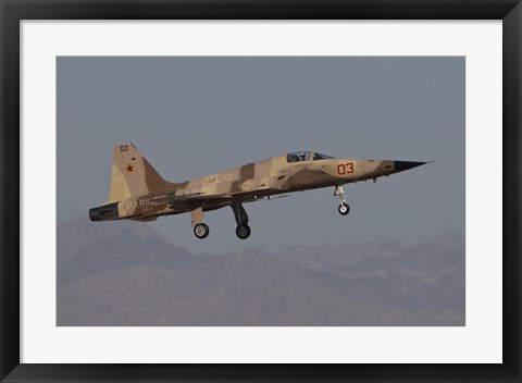 Framed F-5N Aggressor Aircraft of the US Marine Corps Print