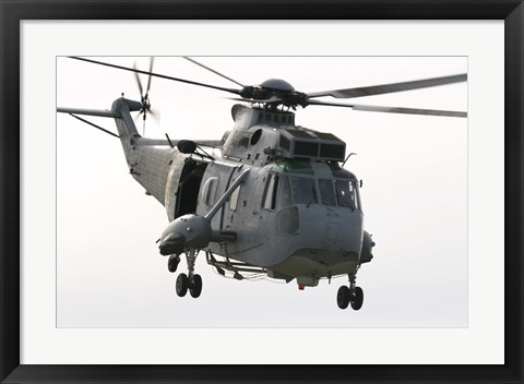 Framed SH-3D Sea King Helicopter of the Spanish Navy Print