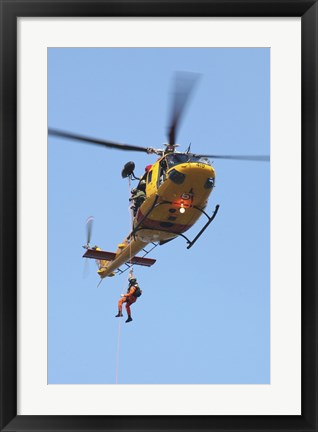 Framed CH-146 Griffon Helicopter of the Canadian Air Force Print