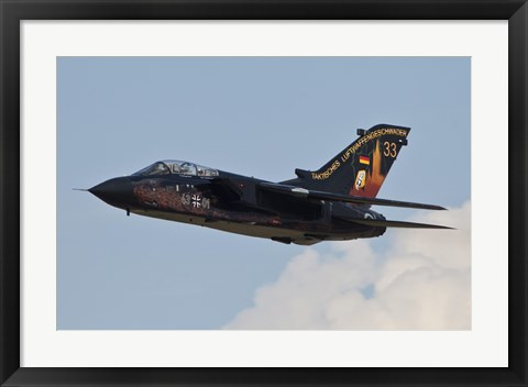 Framed German Air Force Tornado aircraft Print