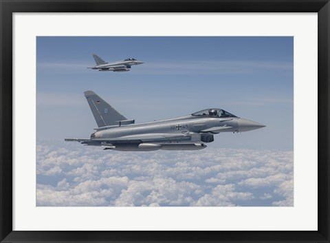 Framed German Eurofighter Typhoon Jets Print