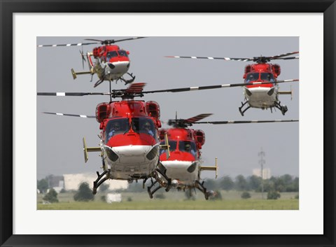 Framed Indian Air Force Dhruv Helicopters Print