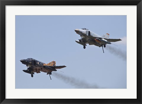 Framed Last Two Operational F-4F Phantom's of the German Air Force Print