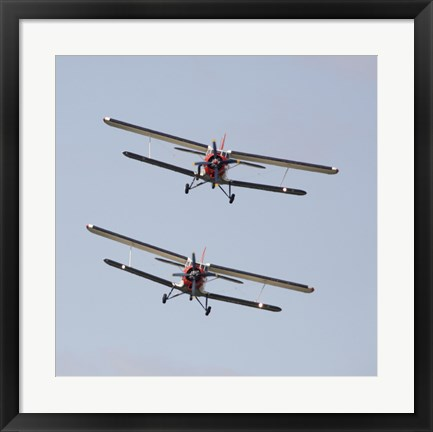 Framed Two Antonov An-2 bi-planes in Formation Over Czech Republic Print