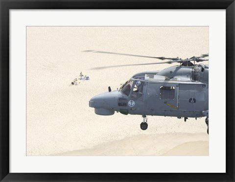 Framed Sea Lynx Helicopter Print