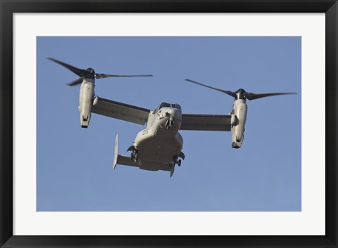 Framed MV-22B Osprey Prepares for Landing Print