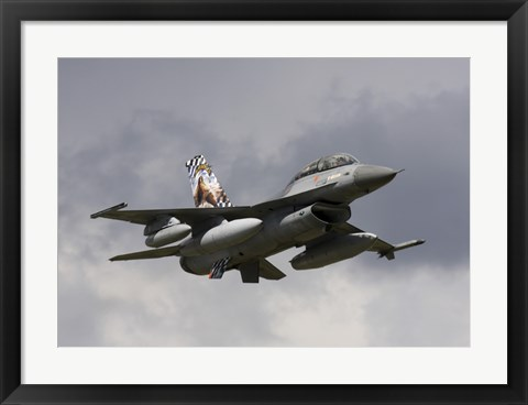 Framed Belgian F-16B taking off Print