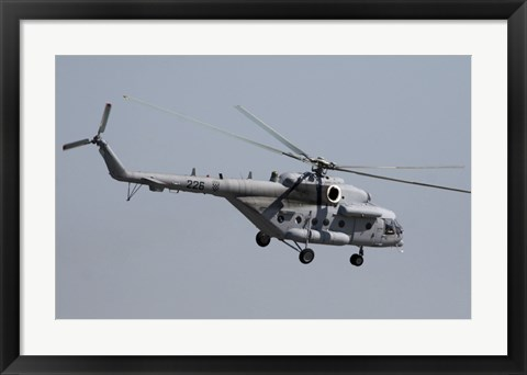 Framed Croatian Mil Mi-17 Helicopter in Flight Over Germany Print