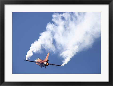 Framed Dutch Air Force F-16A During a Turning and Burning Demonstration Print