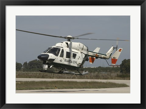 Framed BK117 utility Helicopter of the Spanish Civil Guard Print