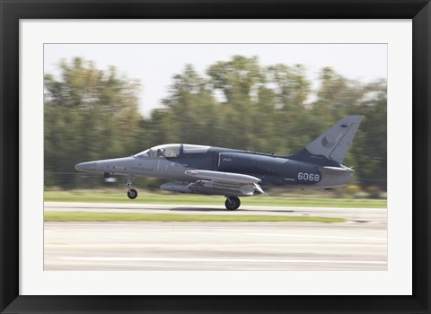 Framed Czech Air Force Aero L-159 ALCA taking off Print