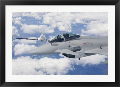 Framed Italian Air Force Eurocopter Typhoon Jet Refueling Print