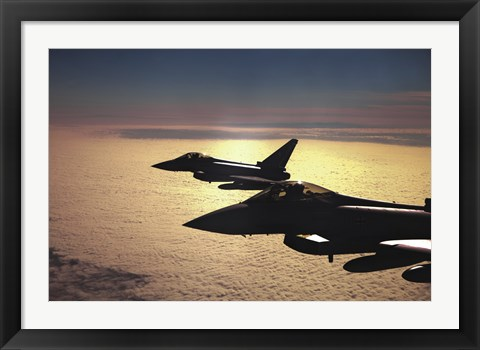 Framed Two German Air Force Eurofighter Typhoon's over France Print