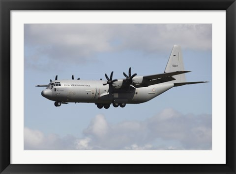 Framed Royal Norwegian Air Force C-130J Hercules Print