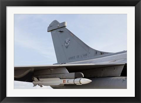 Framed MICA Missile Under the Wing of a French Air Force Rafale Aircraft Print
