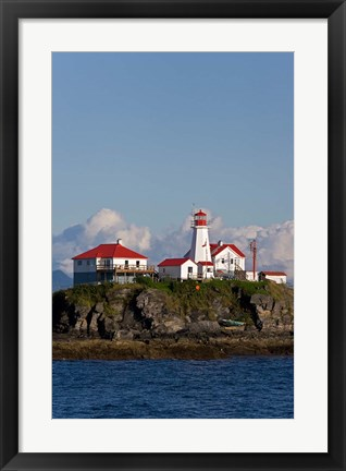 Framed Canada, British Columbia Green Island Lighthouse Print