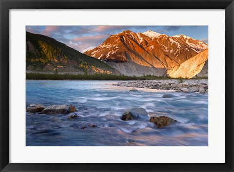 Framed Canada, British Columbia, Alsek River Valley (horizontal) Print