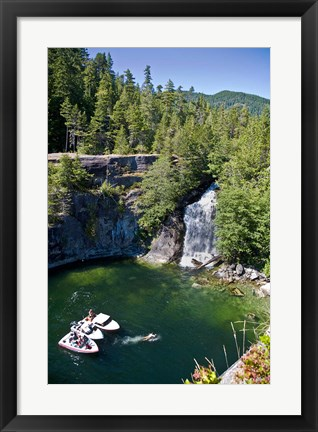 Framed Waterfall, Desolation Sound, British Columbia Print