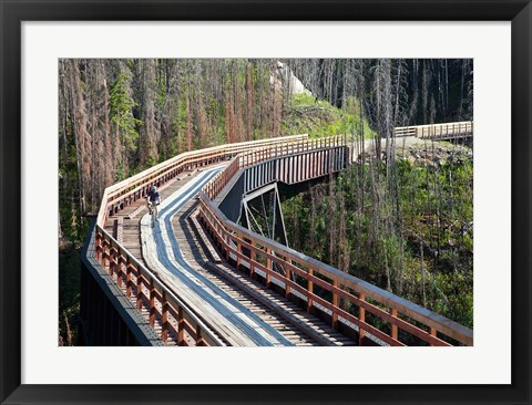Framed Bicycling, Kettle Valley Railway, British Columbia Print