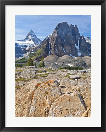 Framed Scenic of Mt Assiniboine and Wedgwood Peak, BC, Canada Print