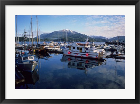 Framed Fishing Boats, Prince Rupert, British Columbia, Canada Print