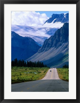 Framed Road into the Mountains of Banff National Park, Alberta, Canada Print