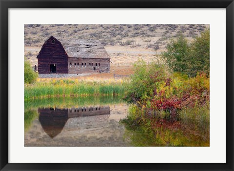Framed Haynes Ranch Buildings Preservation Project, Osoyoos, BC, Canada Print
