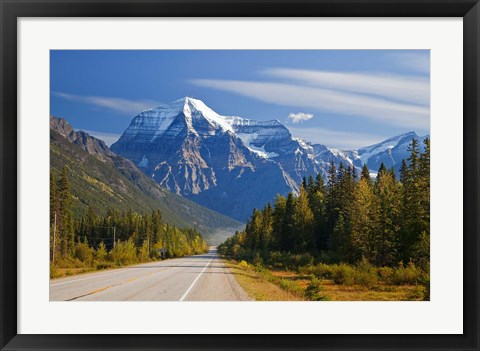 Framed Highway through Mount Robson Provincial Park, British Columbia, Canada Print