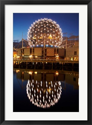 Framed Science World, False Creek, Vancouver, British Columbia Print