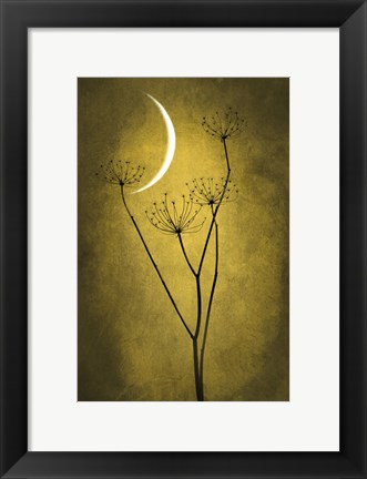 Framed Yellow Crescent Moon Print