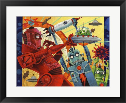 Framed Robotic Uprising Print
