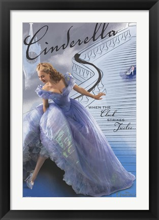 Framed Cinderella - Stairs Print