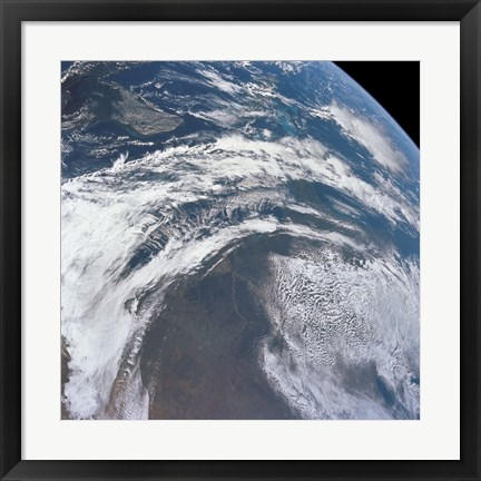 Framed View of Earth as Photographed from the Apollo 12 Spacecraft Print