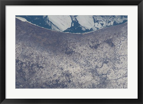 Framed Satellite View of South Bend, Indiana Print