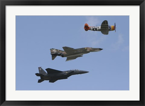 Framed F-15 Eagle Print