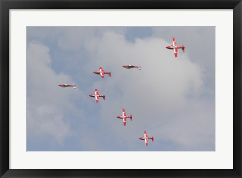 Framed Snowbirds of the Royal Canadian Air Force Print