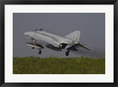Framed German F-4F Phantom, Florennes Airfield, Belgium Print