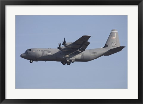 Framed C-130J Super Hercules of the 86th Airlift Wing Print