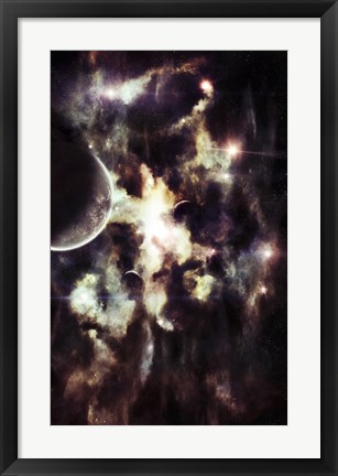 Framed Parallel Universe so Thin you're able to See the Other Side Print