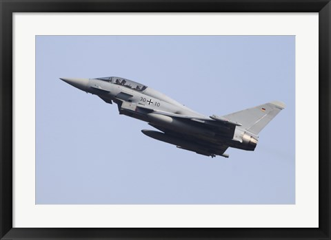 Framed Eurofighter Typhoon of the German Air Force Print