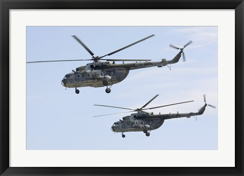 Framed Mil Mi-17 Helicopters of the Czech Air Force Print