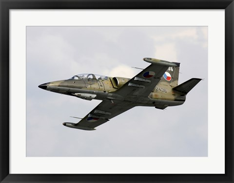 Framed Aero L-39ZA Albatros Trainer Aircraft of the Czech Air Force Print