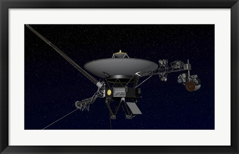 Framed Artist's Concept of One of the Twin Voyager Spacecraft Print