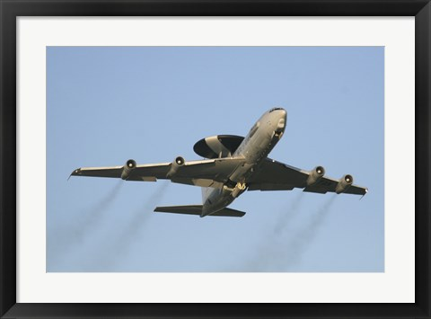 Framed E-3 Sentry taking off from the NATO AWACS base, Germany Print