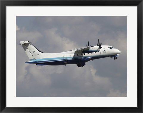 Framed US Air Force Dornier 328 Transiting through Germany Print