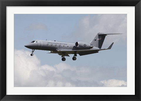 Framed Gulfstream C-20H Executive Transport Plane of the US Air Force Print