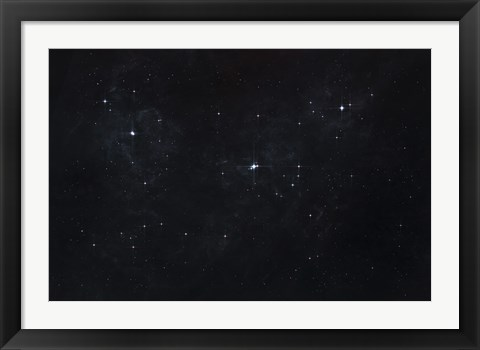 Framed Cluster of Stars in Outer Space Print